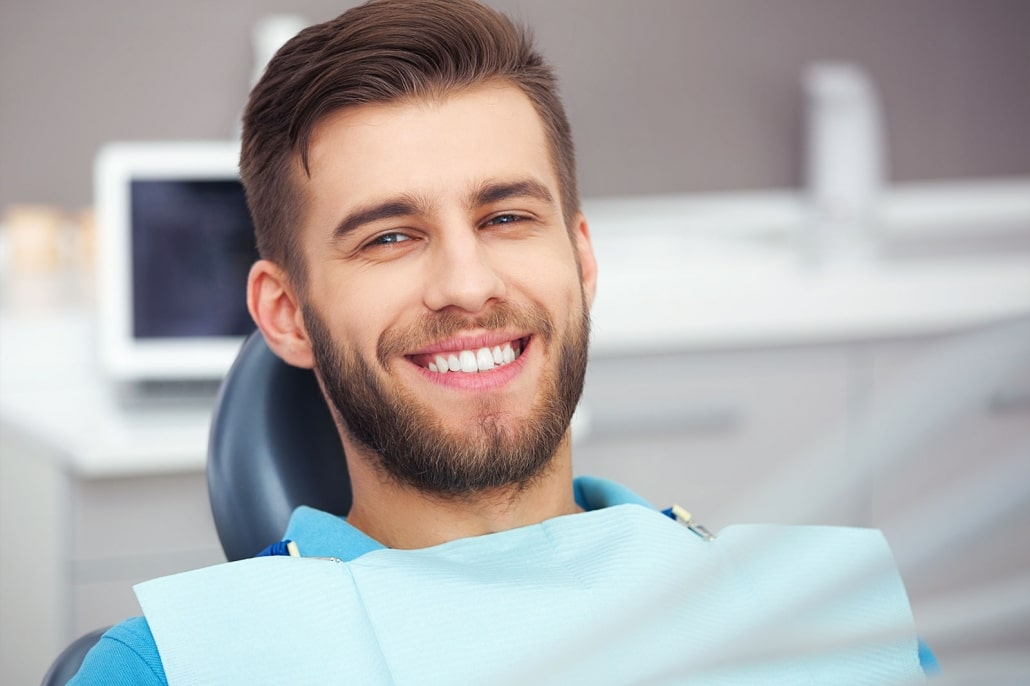 Man getting Dental Crowns in Mountain View